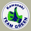 KAWASAKI Team Green Vintage Circle デカール