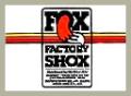 Fox Factory Shoxデカール
