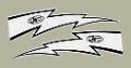 "JT Racing Lightning Boltデカール6""(ホワイト)(PR)"
