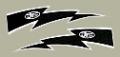 """JT Racing Lightning Boltデカール10""""(ブラック)(PR)"""