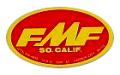 FMF Ovalデカール(レッドベース)(ミディアム)