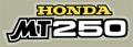 Honda MT250 サイドパネルデカール(EA)