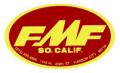 FMF Ovalデカール(レッドベース)(スモール)
