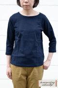 【ポイント10%】【再入荷しました!】Dana Faneuil ムラ糸ボートネック7分袖Tシャツ(全5色2サイズ)