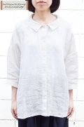 【ポイント10%】【送料無料】ウォッシャブルライトリネン ワイドロングブラウス(全2色)
