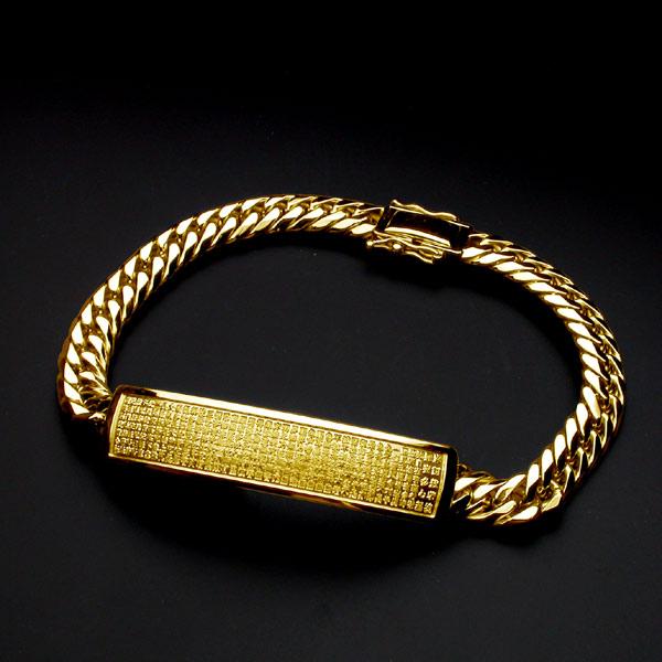般若心経ブレス・K18金ゴールド・210mm