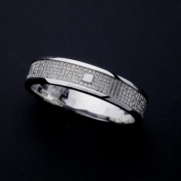 般若心経リング・ミクロ・Pt900プラチナ(23号〜27号) 指輪 リング メンズ レディース サイズ Pt900 プラチナ