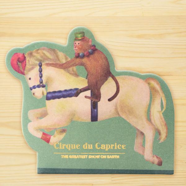 サーカス♪馬&おさるさんジョッキーのメモパッド