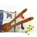 ダーラナホースの木製スプーンとフォークセット