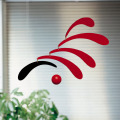 Flensted Mobiles Flowing Rhythm, red - 