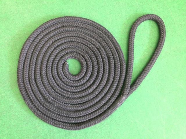 【スプライス済】ブラックラインロープ 20mmφ×7.5m