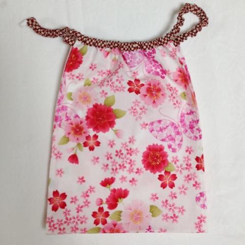 【和癒ぱんつ(ふんどしパンツ)】桜と蝶(白)×市松(赤)『メール便可』