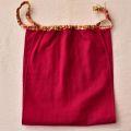 【和癒ぱんつ(ふんどしパンツ)】肌癒ダブルガーゼ(赤紫)×金彩和文様(アイボリー)『メール便可』