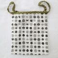 【和癒ぱんつ(ふんどしパンツ)】家紋(白)×小花(緑)『メール便可』