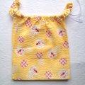 【わゆっこ(こども用ふんどしパンツ):トドラー】リップル金魚(黄色)『メール便可』