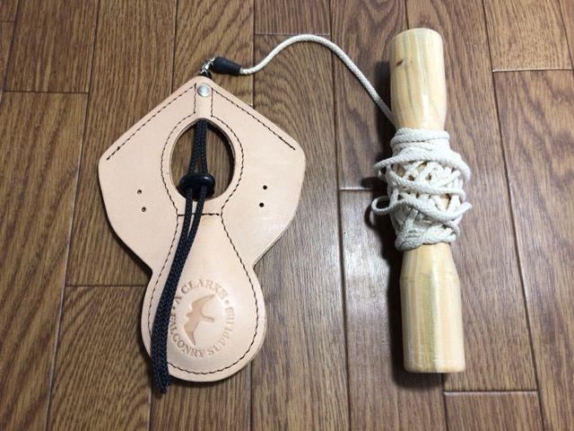 ファルコンルアー: レザールアーパッド ハンドル紐付き Mサイズ