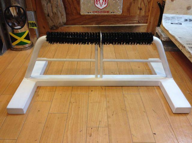 (飼育用品・猛禽)鉄製 ハンティングアニマルオリジナルボウパーチ Lサイズ  人工芝&半ロープ仕様の2タイプ