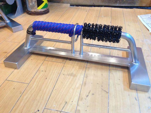(飼育用品・猛禽)ステンレス製ハンティングアニマルオリジナルボウパーチ Sサイズ ロープ仕様