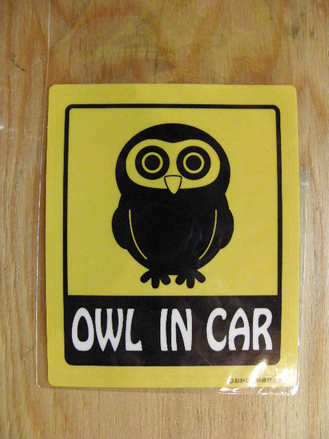 「OWL IN CAR」ステッカー NO2