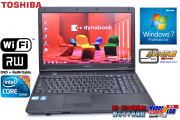 美品 SSD搭載ノートパソコン TOSHIBA dynabook Satellite L47 266E/HD Core i5 560M(2.66GHz) メモリ4G WiFi マルチ 15.6型液晶 Windows7 64bit