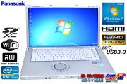 ���� �ե�HD ���� �Ρ��ȥѥ����� Panasonic Let's note B10 Core i5 2540M(2.60GHz) ����4G USB3.0 WiFi �ޥ�� Windows7 64bit
