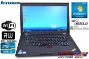 USB3.0 ��� ��ťΡ��ȥѥ����� ��Υ� THINKPAD L530 Core i5 3210M(2.50GHz) ����4G HDD320GB WiFi �ޥ�� Windows7 64bit Office(KS)