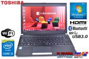 東芝 軽量モバイルノートパソコン dynabook R734/K Core i5 4300M(2.60GHz) メモリ4GB WiFi USB3.0 Bluetooth Windows7 8.1