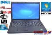 超大画面17.3型 中古ノートパソコン Dell Vostro 3700 Core i3 350M 2.26GHz メモリ3G WiFi マルチ カメラ Windows7