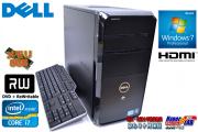 4コア8スレッド 中古パソコン DELL Vostro 460 Core i7 2600(3.4GHz) メモリ8GB マルチ Windows7 64bit ミニタワー型