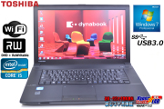 Windows 7 64bit 中古ノートパソコン 東芝 dynabook Satellite B553/J Core i5 3230M(2.60GHz) メモリ4G HDD500G WiFi マルチ USB3.0