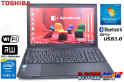 Windows7 64bit 中古ノートパソコン 東芝 dynabook Satellite B554/M Core i5 4310M(2.70GHz) メモリ4G WiFi マルチ 15.6型液晶 USB3.0 Bluetooth