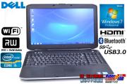 中古ノートパソコン デル Latitude E5530 Core i5 3340M(2.70GHz) メモリ4G マルチ WiFi USB3.0 Bluetooth Windows7