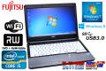 Windows8��ǥ� 13.3����Х���Ρ��ȥѥ����� �ٻ��� LIFEBOOK S762/G Core i5 3340M(2.70GHz) ����4G DVD�ޥ�� ̵��LAN USB3.0 Windows7 64bit