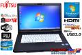 SSD��� Win7 64bit �Ρ��ȥѥ����� �ٻ��� LIFEBOOK A572/F Core i3 3110M(2.40GHz) 15.6��HD+�վ� �ޥ�� WiFi USB3.0 Web����� KS Office2016