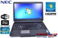 アウトレット 中古ノートパソコン NEC VersaPro VK25M/X-C Corei5 2520M(2.5GHz) メモリ2G マルチ WiFi Windows7 15.6型