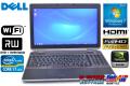 フルHD液晶 Windows7 中古ノートパソコン DELL Latitude E6520 Core i7-2620M(2.70GHz) メモリ4G マルチ WiFi NVIDIA