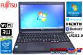 Windows7 64bit 富士通ノートパソコン LIFEBOOK A574/HX Core i5 4300M(2.60GHz) メモリ4G マルチ WiFi USB3.0 Bluetooth Windows8.1 リカバリ付