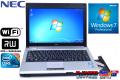 マルチドライブ搭載 中古モバイルノート NEC VersaPro VK13M/BB-B 超低電圧版Core i5 560UM(1.33GHz) メモリ4G WiFi Windows7