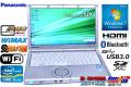 WiMAX SSD搭載 パナソニック 中古ノートパソコン Let's note NX2 Core i5 3320M(2.60GHz) メモリ4G USB3.0 WiFi カメラ Windows7 64bit Lバッテリー付