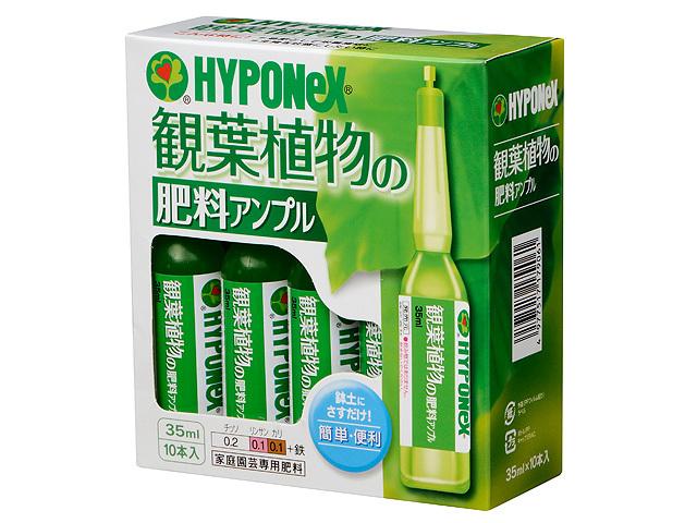 ハイポネックス 観葉植物の肥料アンプル 35ml×10本入 2個