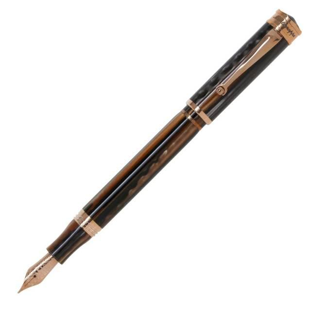 【お取り寄せ】モンテグラッパ(Montegrappa)ドゥカーレ ローズゴールド ブラウン 万年筆