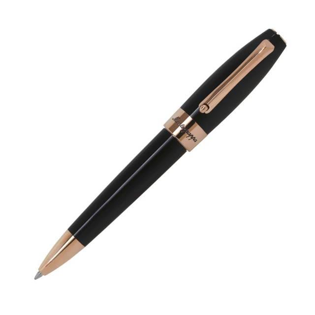 【お取り寄せ】モンテグラッパ(Montegrappa)フォーチュナ ブラック ローズゴールドコーティング ボールペン ISFORBRC