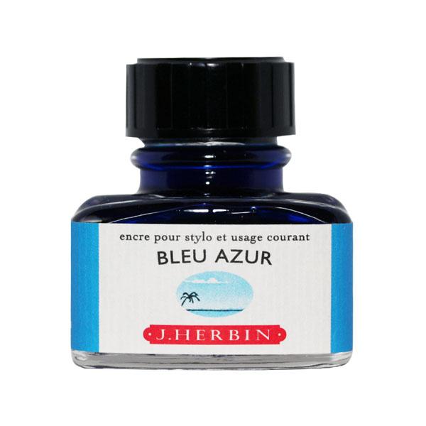 【即納可能】エルバン(J.HERBIN)ボトルインク トラディショナルインク ブルーアズール