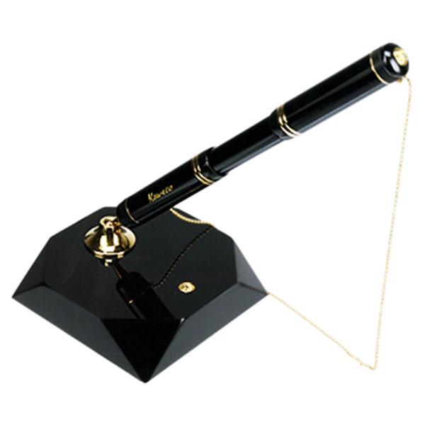 【お取り寄せ】カヴェコ(KAEWCO)デスクスタンド DIA2 ゴールド ボールペン付き 黒