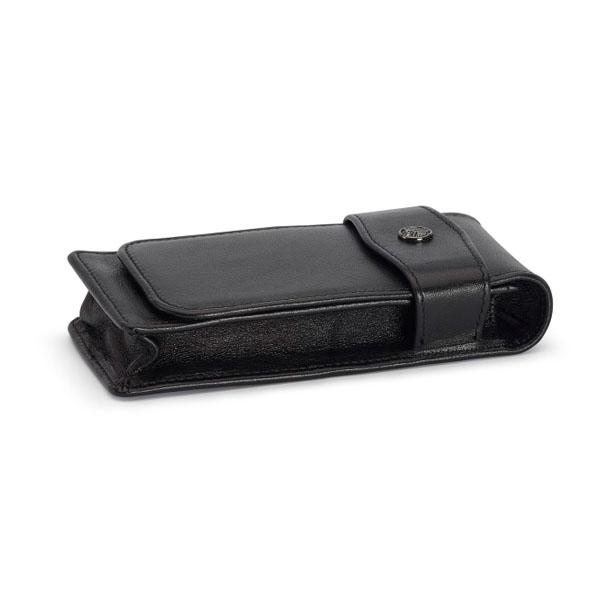 【お取り寄せ】カヴェコ(KAEWCO)ショートタイプ 3本用 革ケース 黒