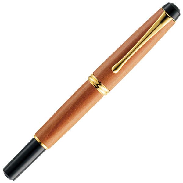 【お取り寄せ】くれ竹(Kuretake) 夢銀河 天然木 梨 赤 万年毛筆