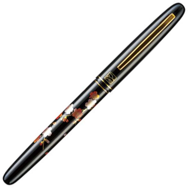 【お取り寄せ】くれ竹(Kuretake) 蒔絵物語 枝桜 黒 万年毛筆