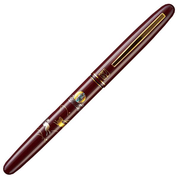 【お取り寄せ】くれ竹(Kuretake) 蒔絵物語 うさぎ 赤 万年毛筆