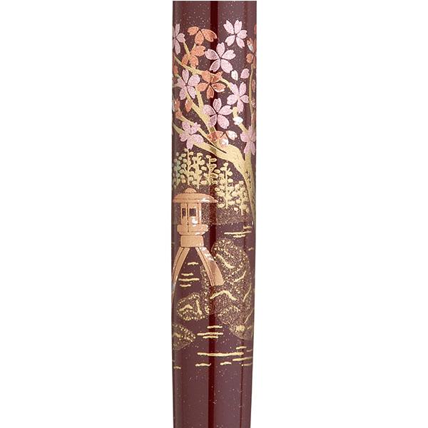 【お取り寄せ】くれ竹(Kuretake) 蒔絵物語 桜園 臙脂 手紙ぺん