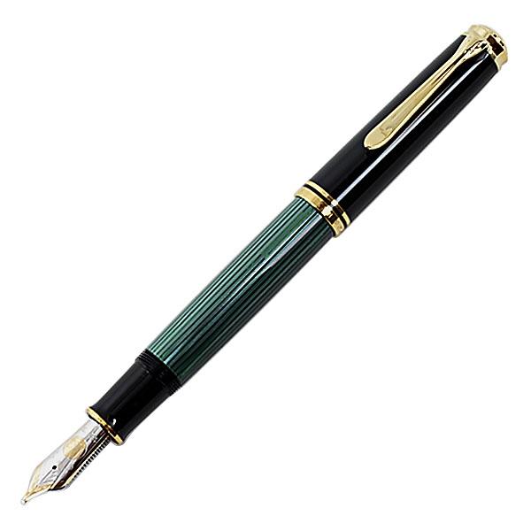 【即納可能】ペリカン(Pelikan)スーベレーン M1000 グリーン縞 万年筆